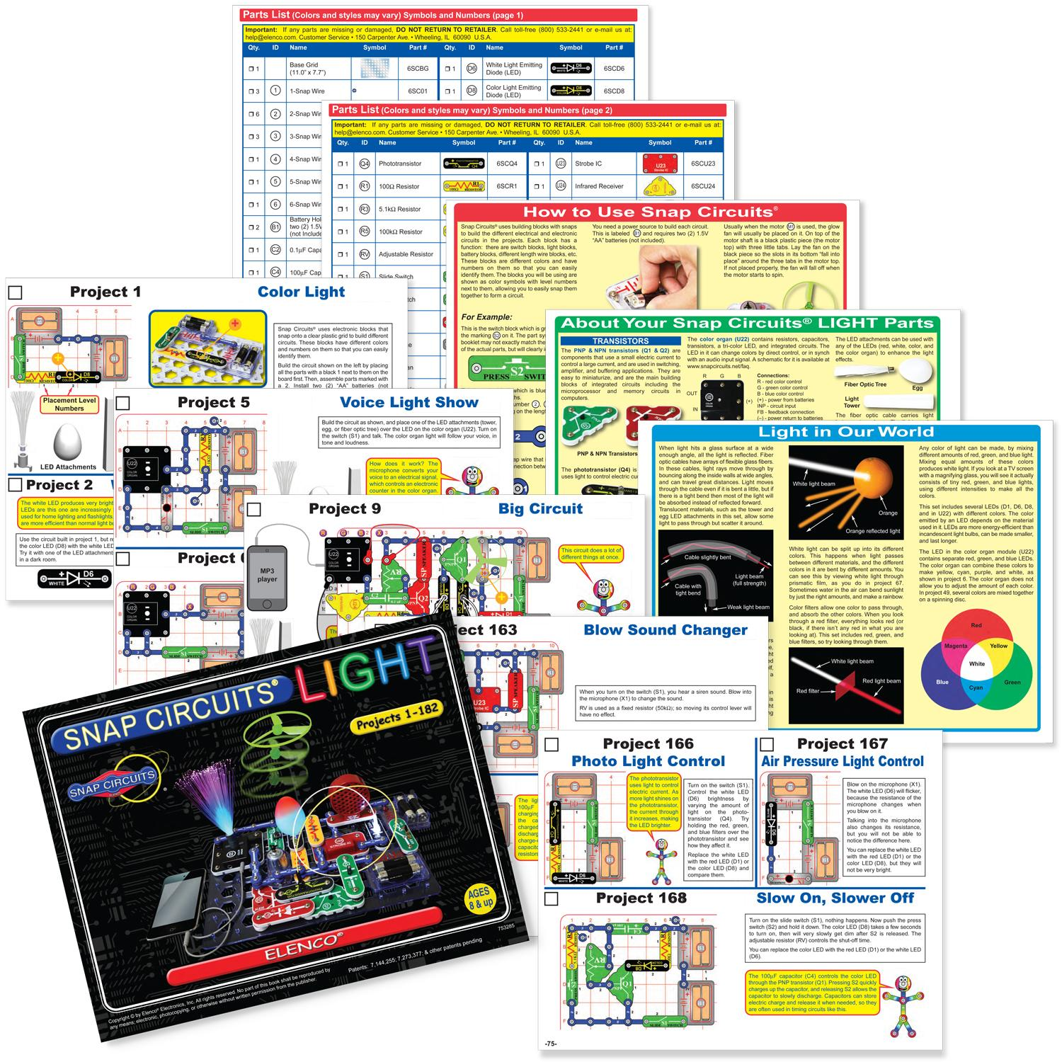 Elenco Snap Circuits Lights Scl 175 Electronics Kits Amazon Canada Extreme Sc 750 Review View Larger