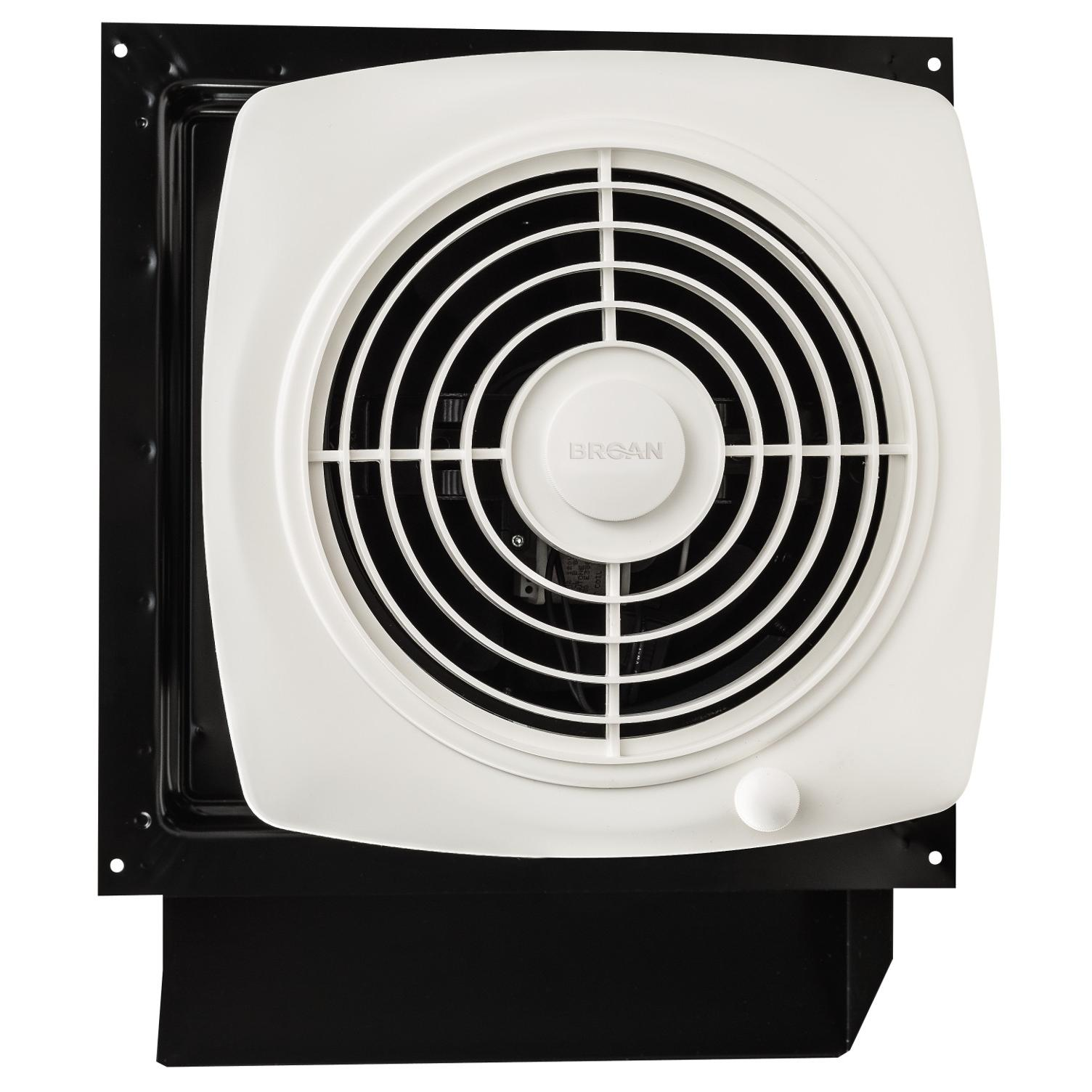 Bathroom Exhaust Fans Through Wall : Broan through wall fan cfm sones white