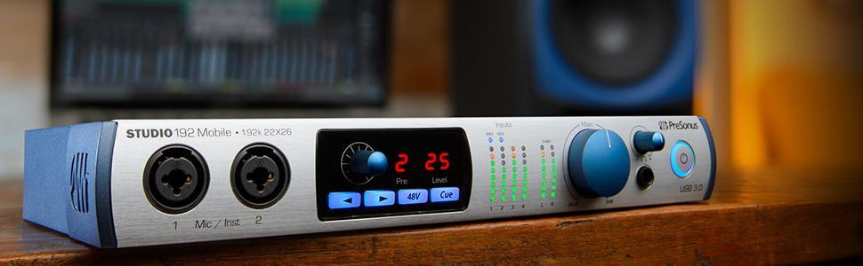 presonus studio 192 26x32 usb 3 0 audio interface and studio command center. Black Bedroom Furniture Sets. Home Design Ideas
