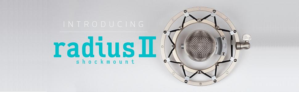 Blue Microphones RADIUS II Microphone Shock Mount for Yeti/Yeti Pro with Improved Hinge Design