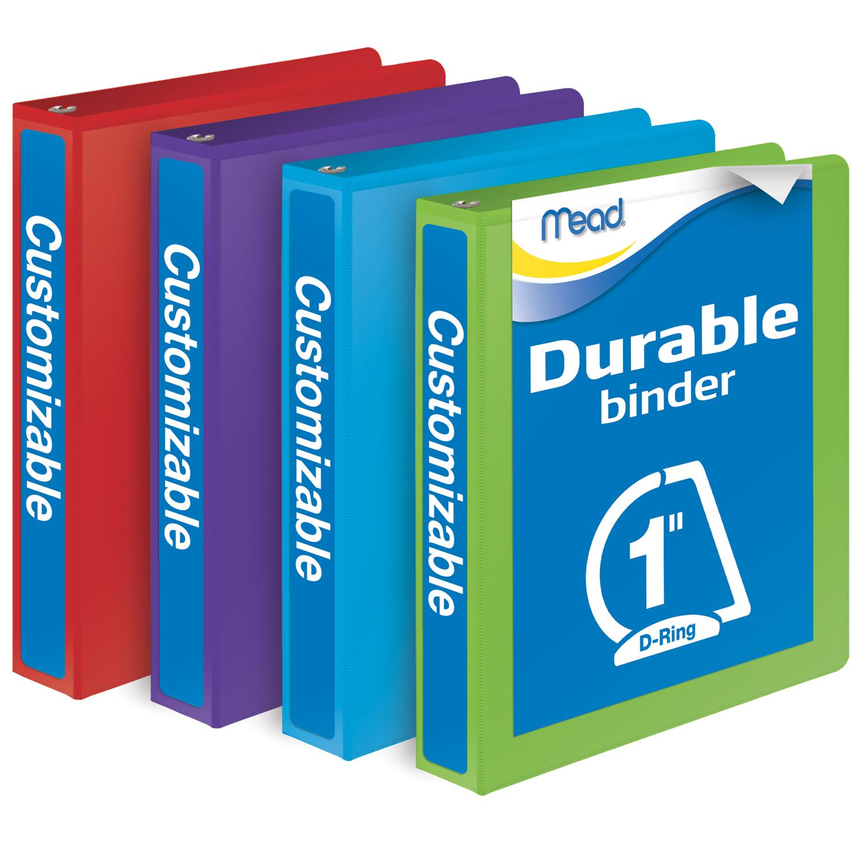 Amazon.com : Mead 1 Inch Binders, D Ring Binder, Durable