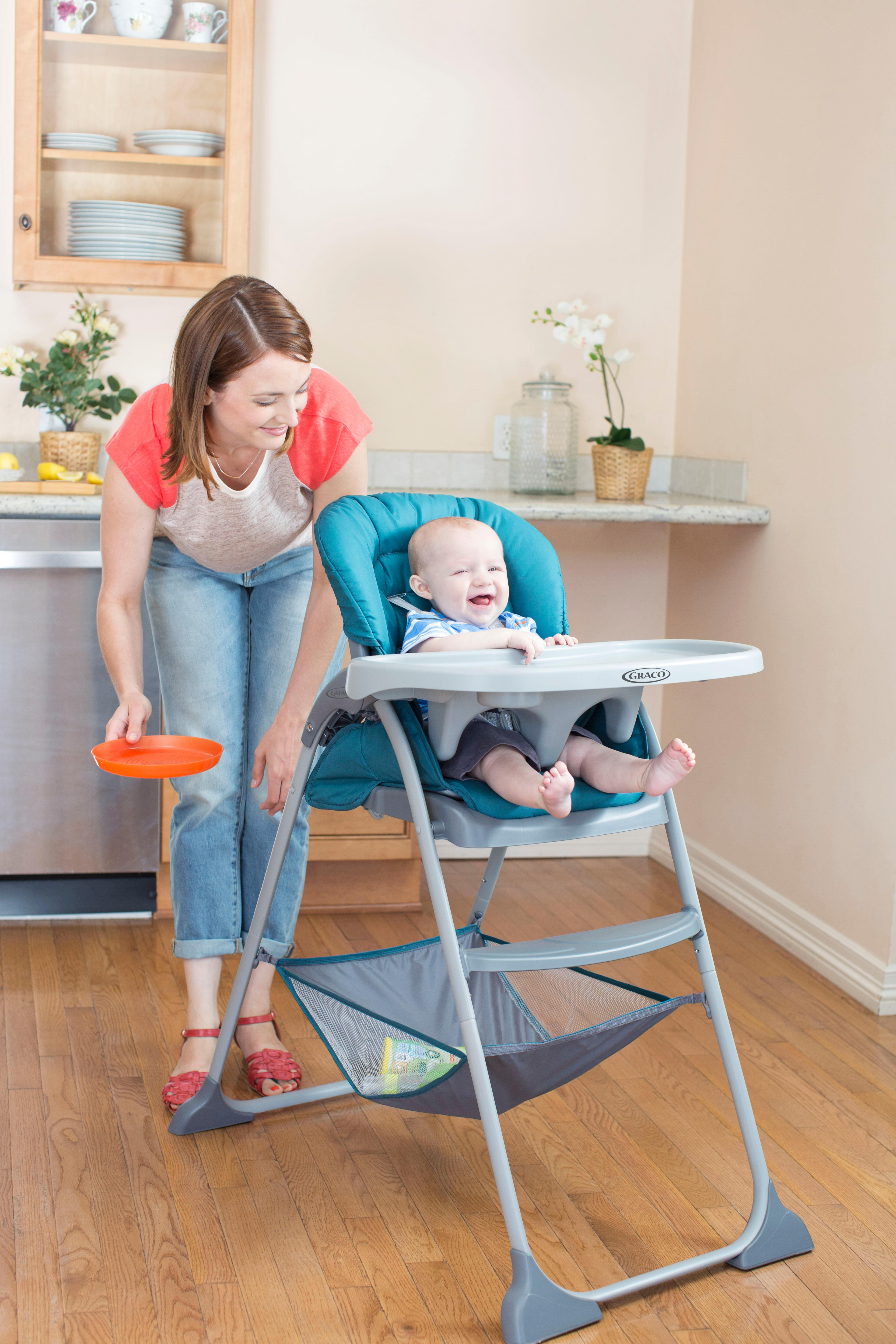 Amazon Com Graco Slim Snacker High Chair Whisk Baby