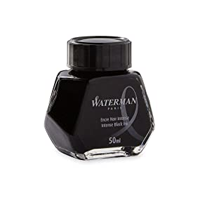 Waterman Fountain Pen Liquid Bottled Ink - Black - Hero Image