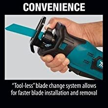 simple easy quick saw blades change