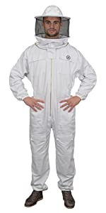 Humble Bee 410 Polycotton Beekeeping Suit with Round Veil