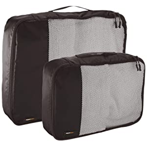 AmazonBasics Packing Cubes - 4 Piece Set (2 Medium and 2 Large)