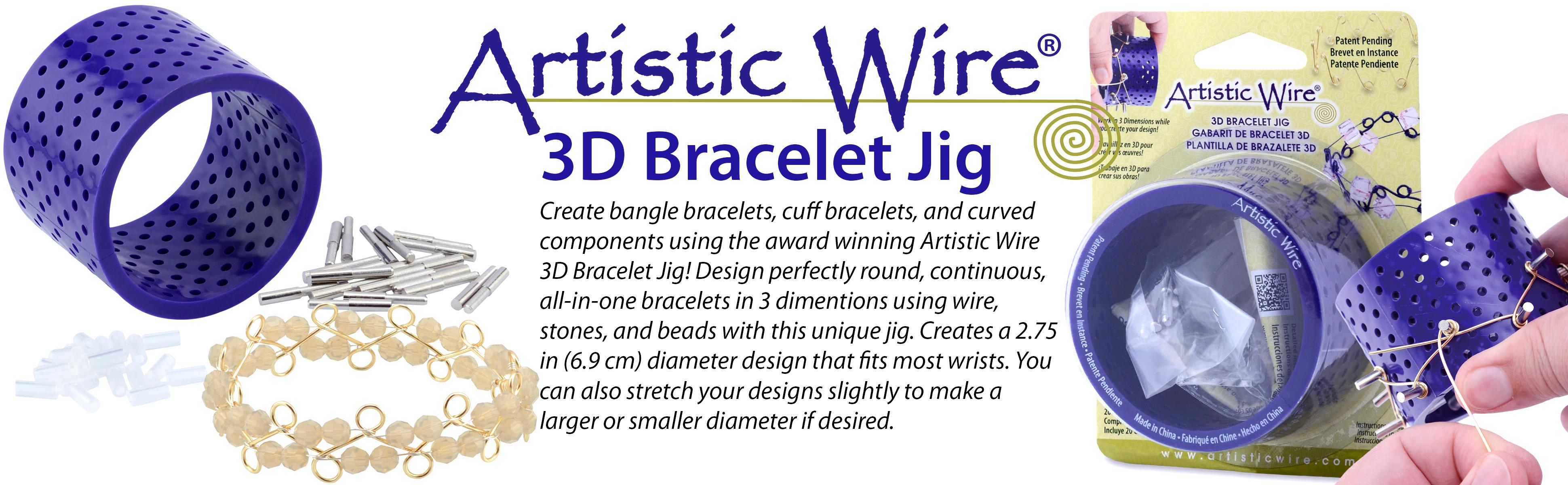 Amazon.com: Artistic Wire 3D Bracelet Jig with 20 Pegs, and Holder Tubes
