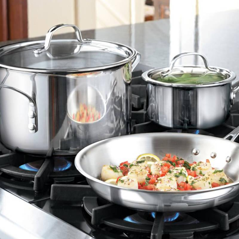 Kitchen Essentials From Calphalon: Amazon.com: Calphalon 1767952 Tri-Ply Stainless Steel 8