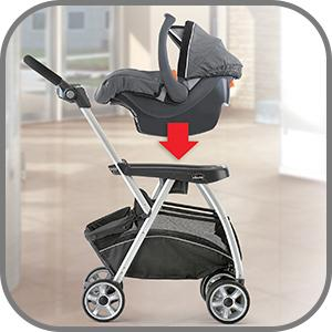 Amazon Com Chicco Keyfit Caddy Frame Stroller