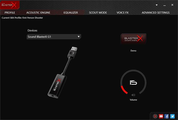 Creative Sound Blaster X G1 Portable Soundcard with Headphone