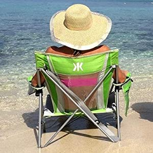 Amazon Com Kijaro Coast Folding Beach Sling Chair With