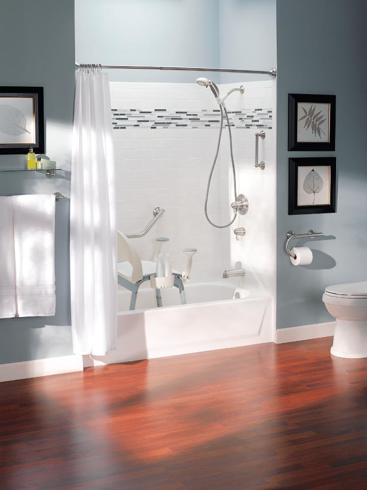 Moen LR2352DBN Home Care Grab Bar Toilet Paper Holder, Brushed ...
