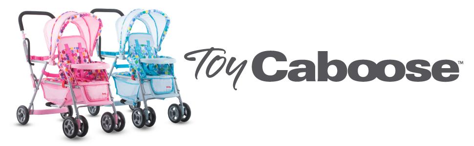 Joovy Toy Doll Caboose Tandem Stroller - Pink Dot ...
