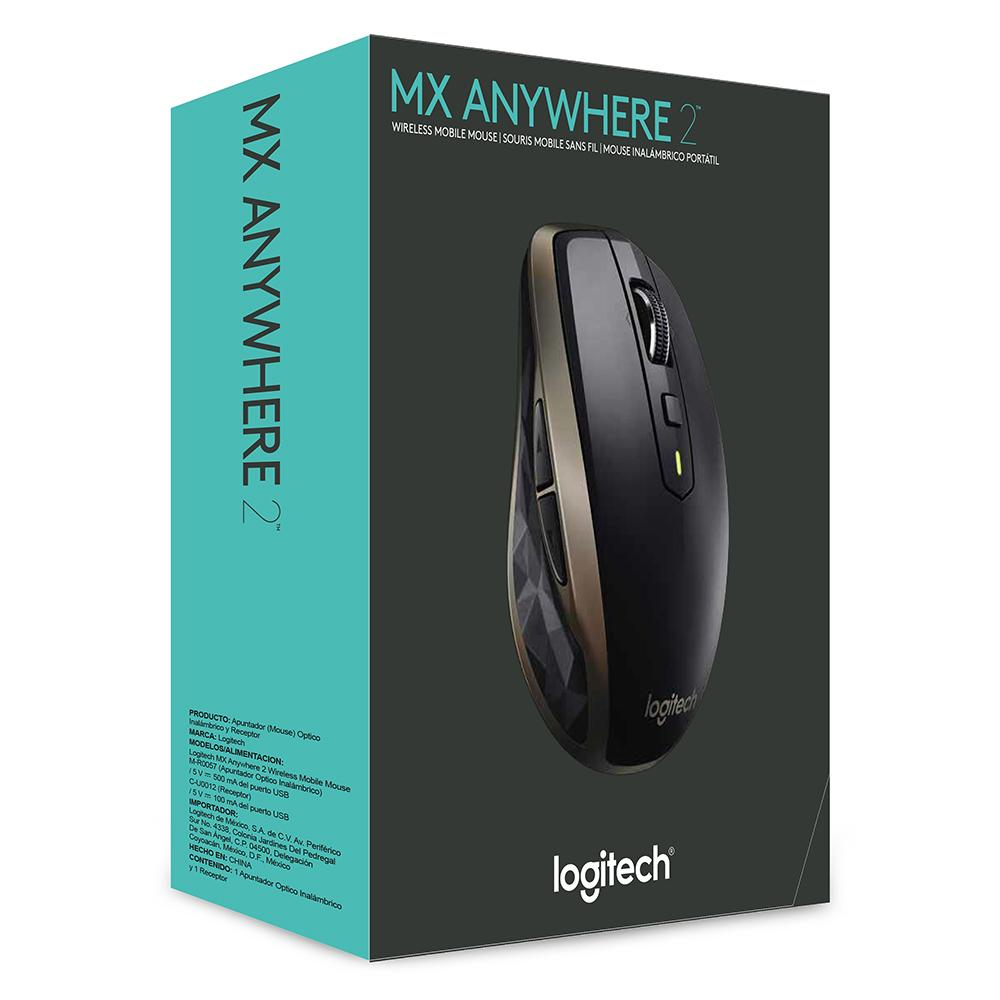 3c285d5cb8d Logitech MX Anywhere 2 Wireless Mobile Mouse, Black (910-004373 ...