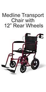 Amazon com: Medline Lightweight Transport Adult Folding