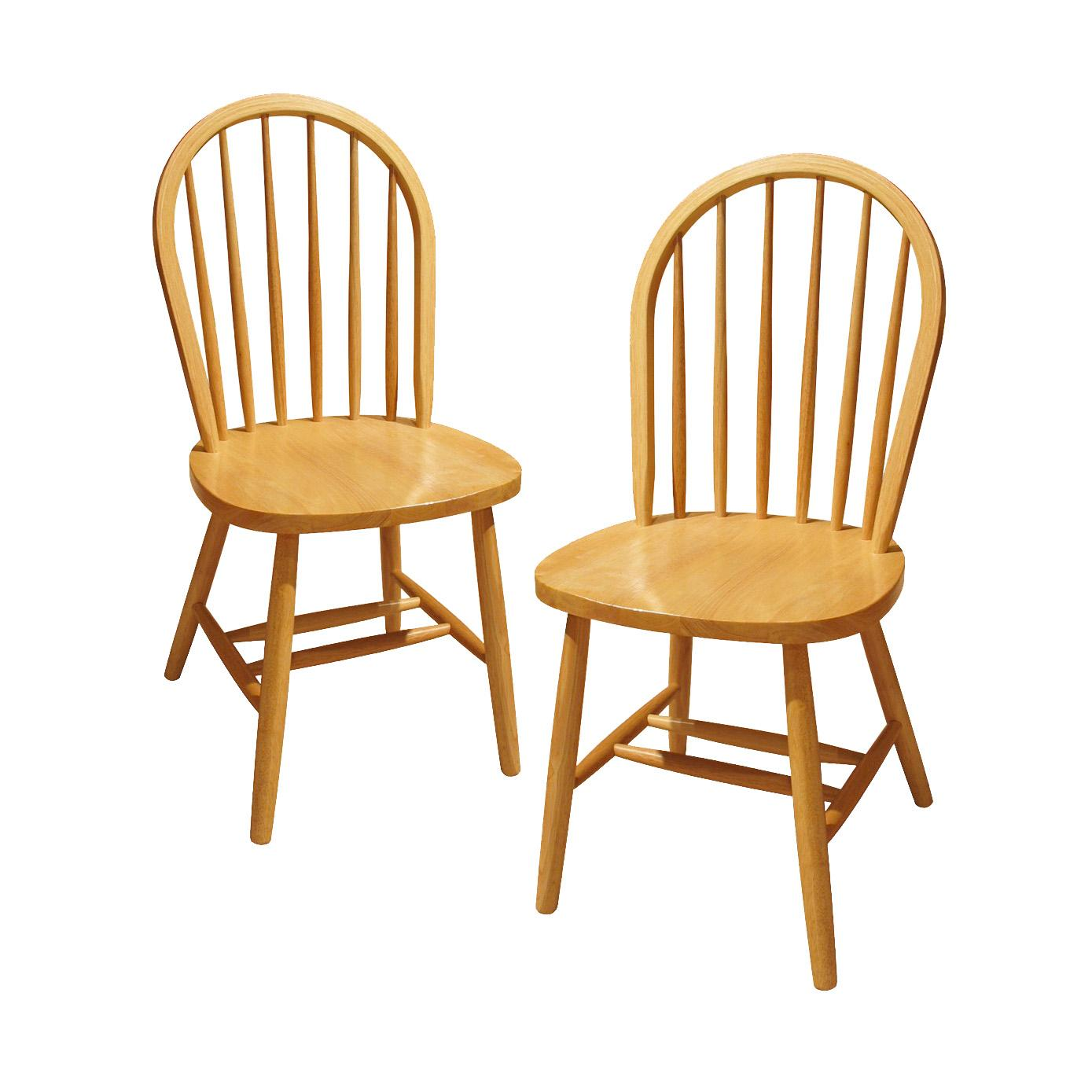 Winsome Wood Windsor Chair, Natural, Set of 10: Amazon.ca: Home