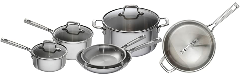 Amazon Com Emeril Lagasse 62853 Tri Ply Stainless Steel