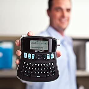 DYMO LabelManager 210D All Purpose Label Maker with Large Display and QWERTY Keyboard 1738345 Renewed