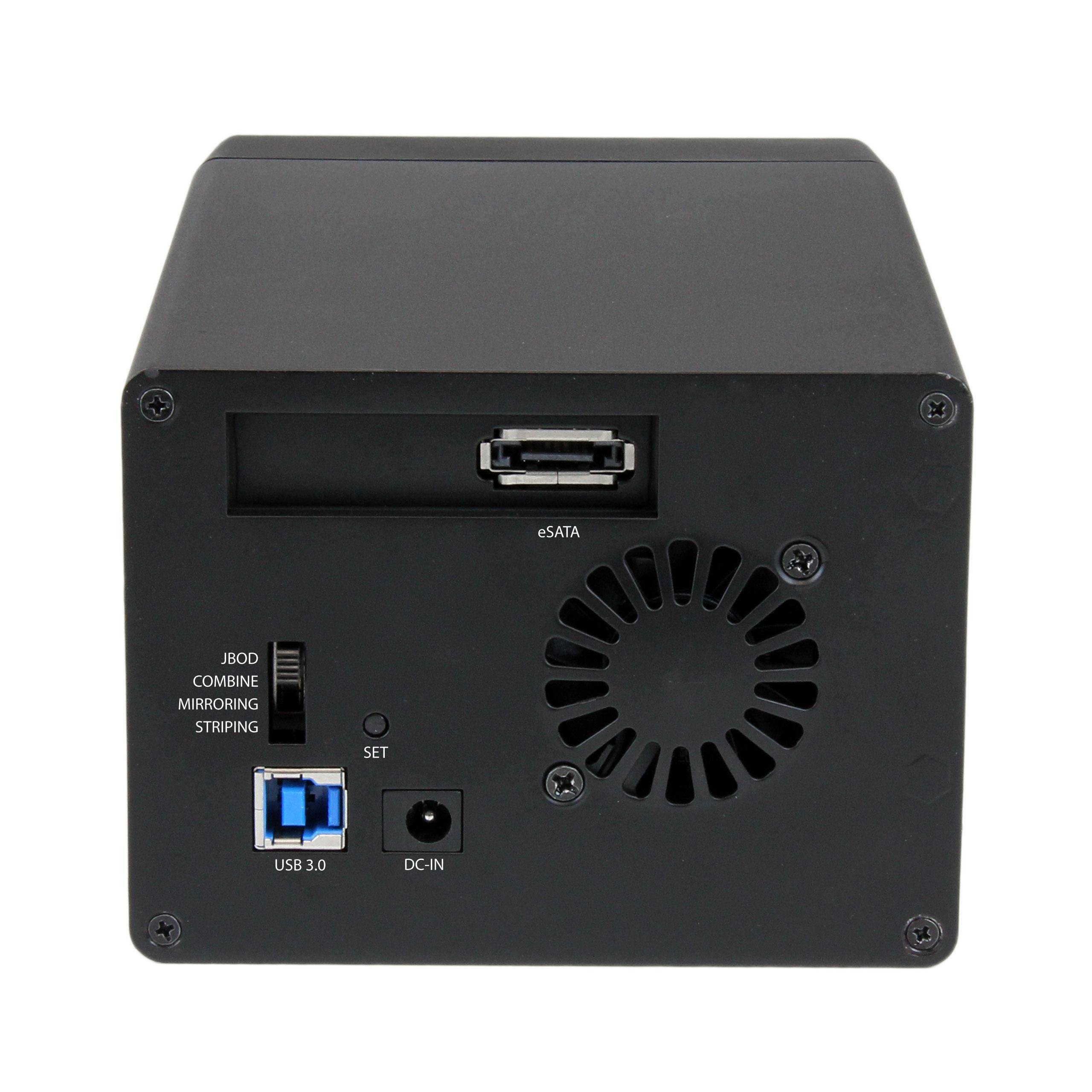 StarTech.com USB 3.0 eSATA Dual 3.5 SATA III Hard Drive RAID Enclosure w/UASP and Fan - Black - Multi Bay 3.5