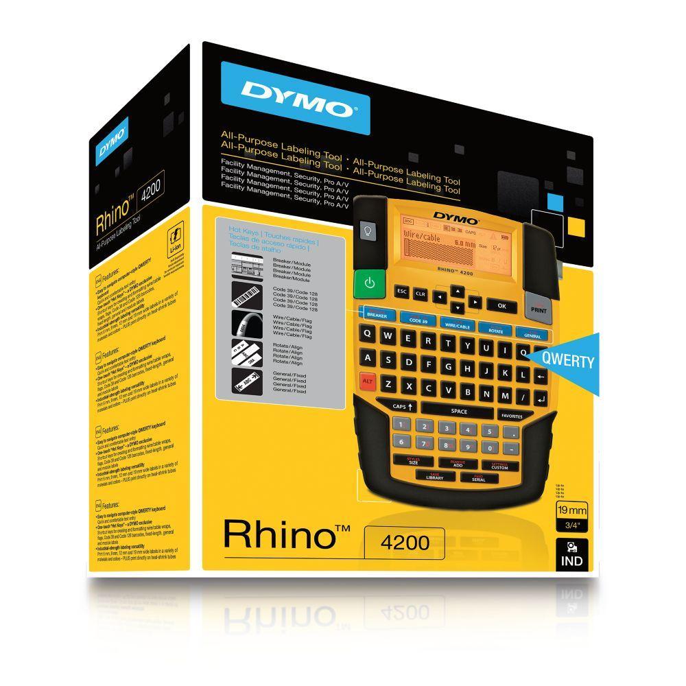 Dymo S0955950 Rhino 4200 Labelling Machine with Qwerty Keyboard