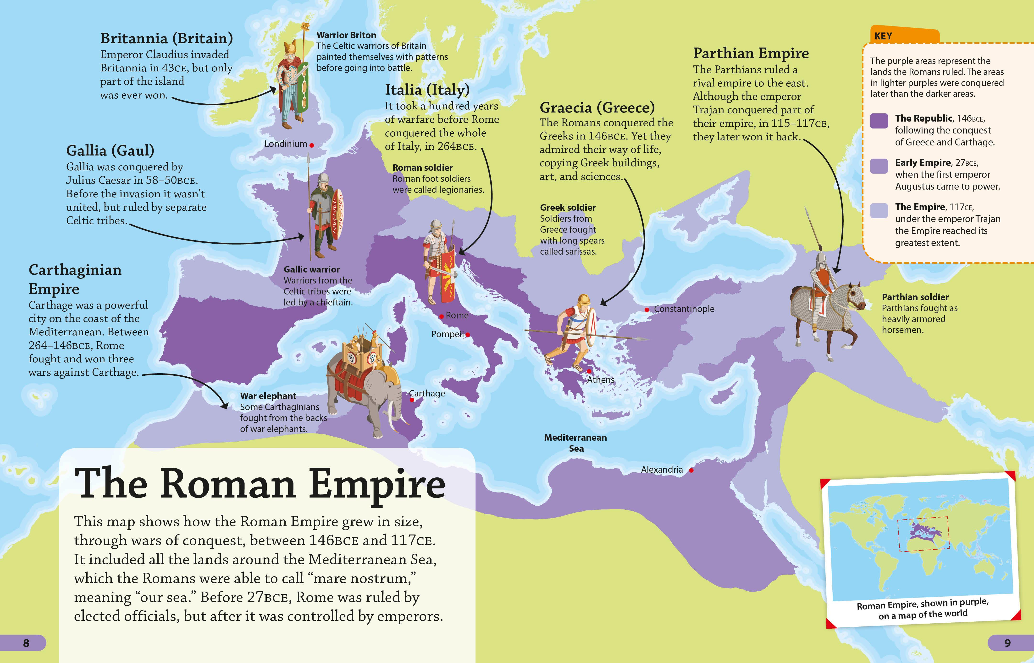 What was the size of the Roman legion
