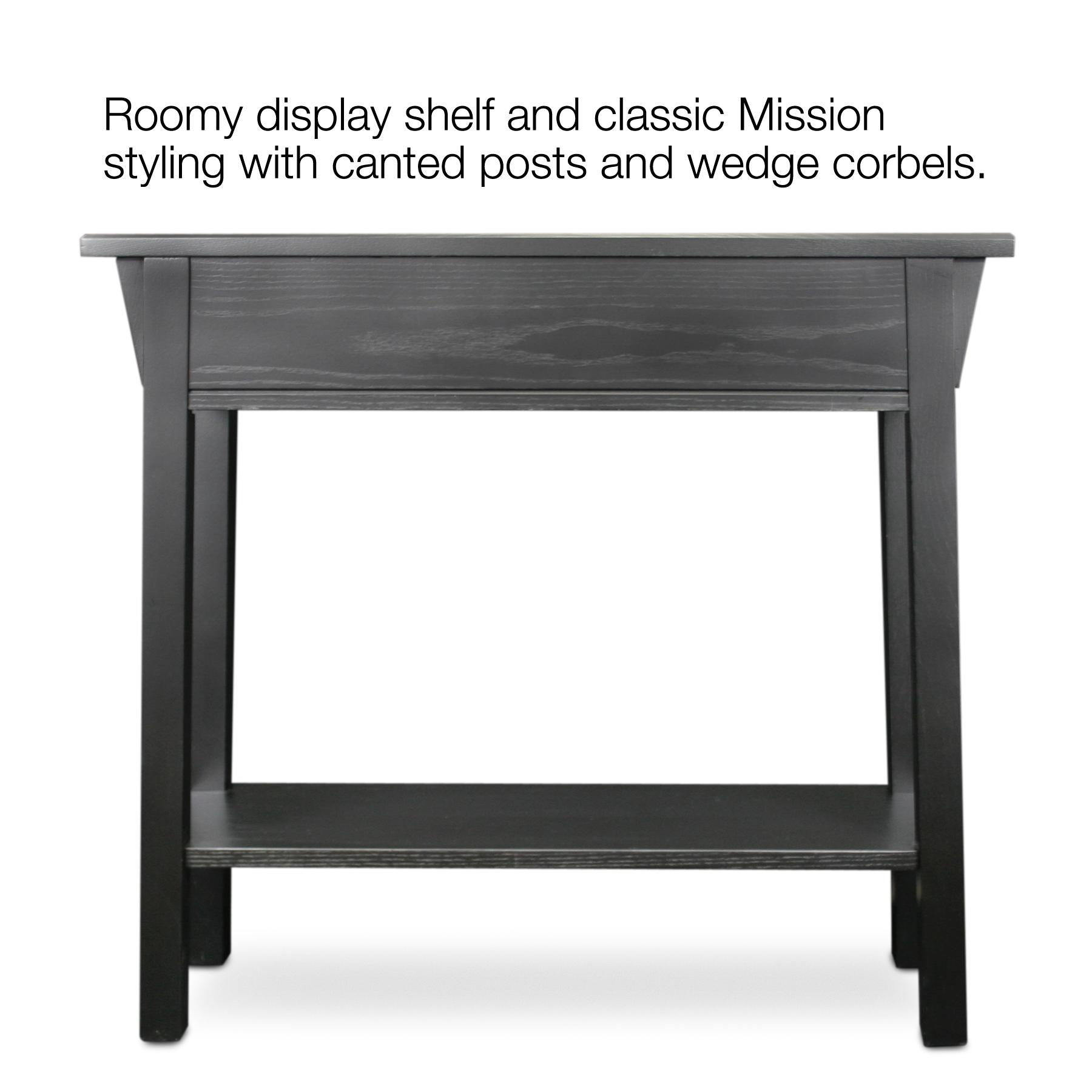 Leick Mission Console Table Hall Stand Slate Black Amazon