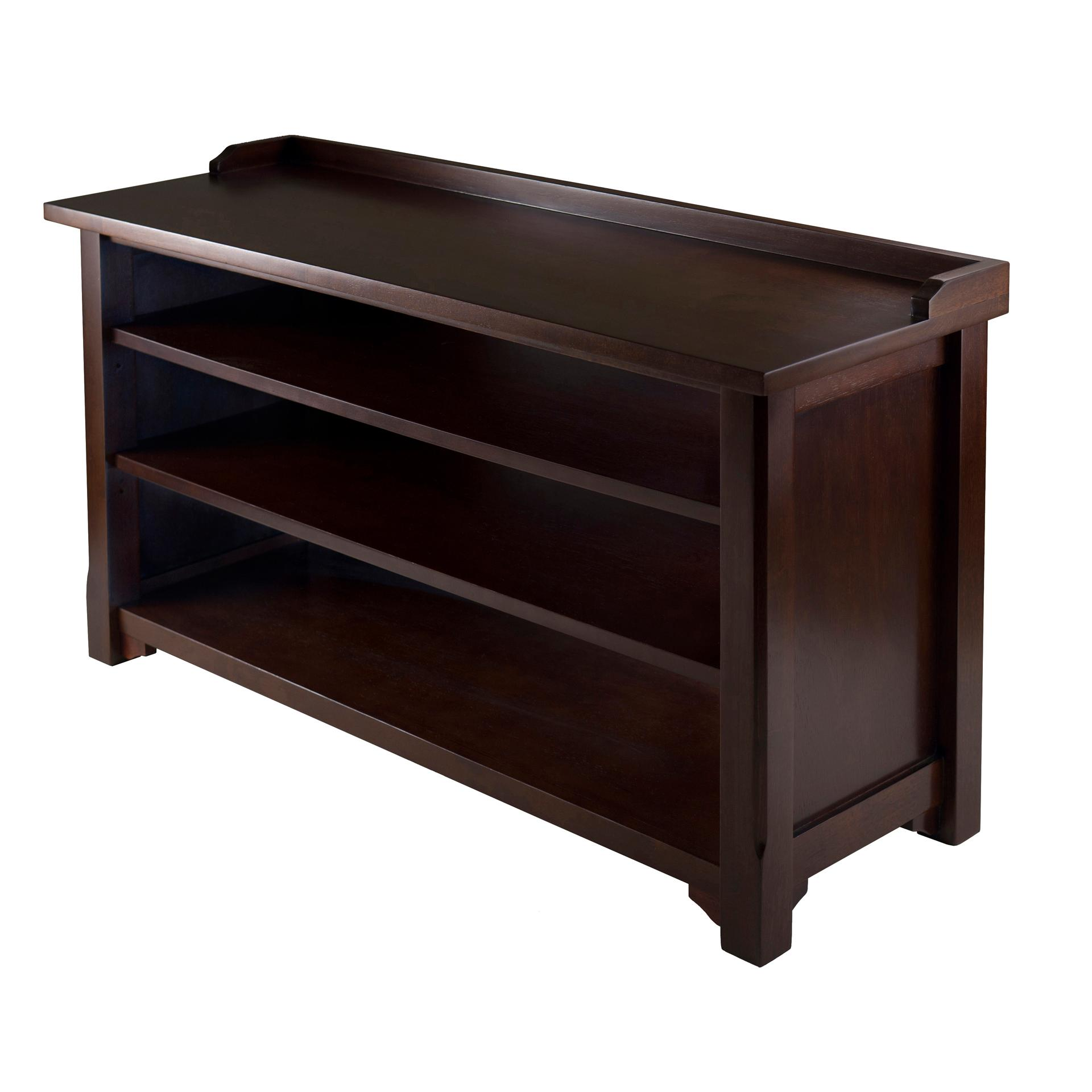 Winsome Wood Dayton Storage Hall Bench with Shelves: Amazon.ca ...