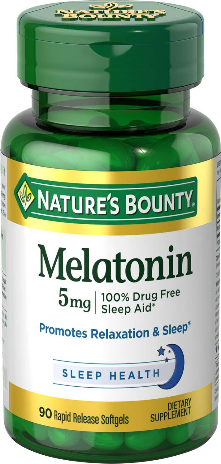 melatonin bounty mg nature tablets 5mg natures softgels amazon 180ct 1mg dissolve count bottle ct date pack expiration shipped jet