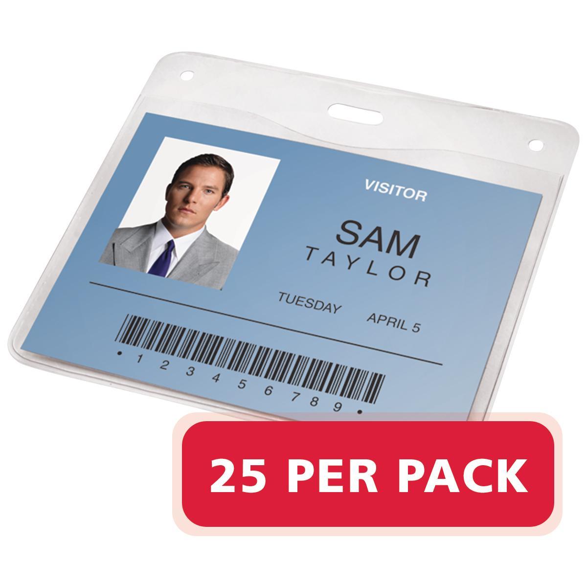 amazon com swingline gbc badge holder horizontal id holder 4 x