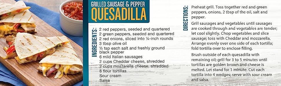 Grilled Sausage & Pepper Quesadilla