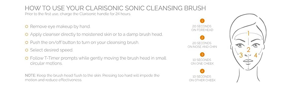 How to sonic facial cleanse T-Zone Timer Directions