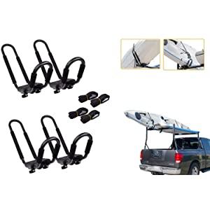Lifetime Warranty TMS/® 2 Pairs J-Bar Rack HD Kayak Carrier Canoe Boat Surf Ski Roof Top Mount Car SUV Crossbar