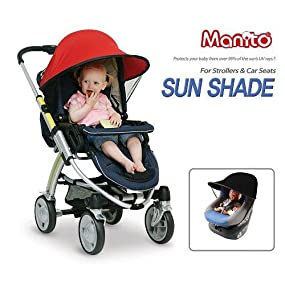 Amazon Com Manito Sun Shade For Strollers And Car Seats Blue Upf 50 Baby