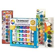 3 pc Paint Palette Delta Creative 03085 Ceramcoat Tools Set White