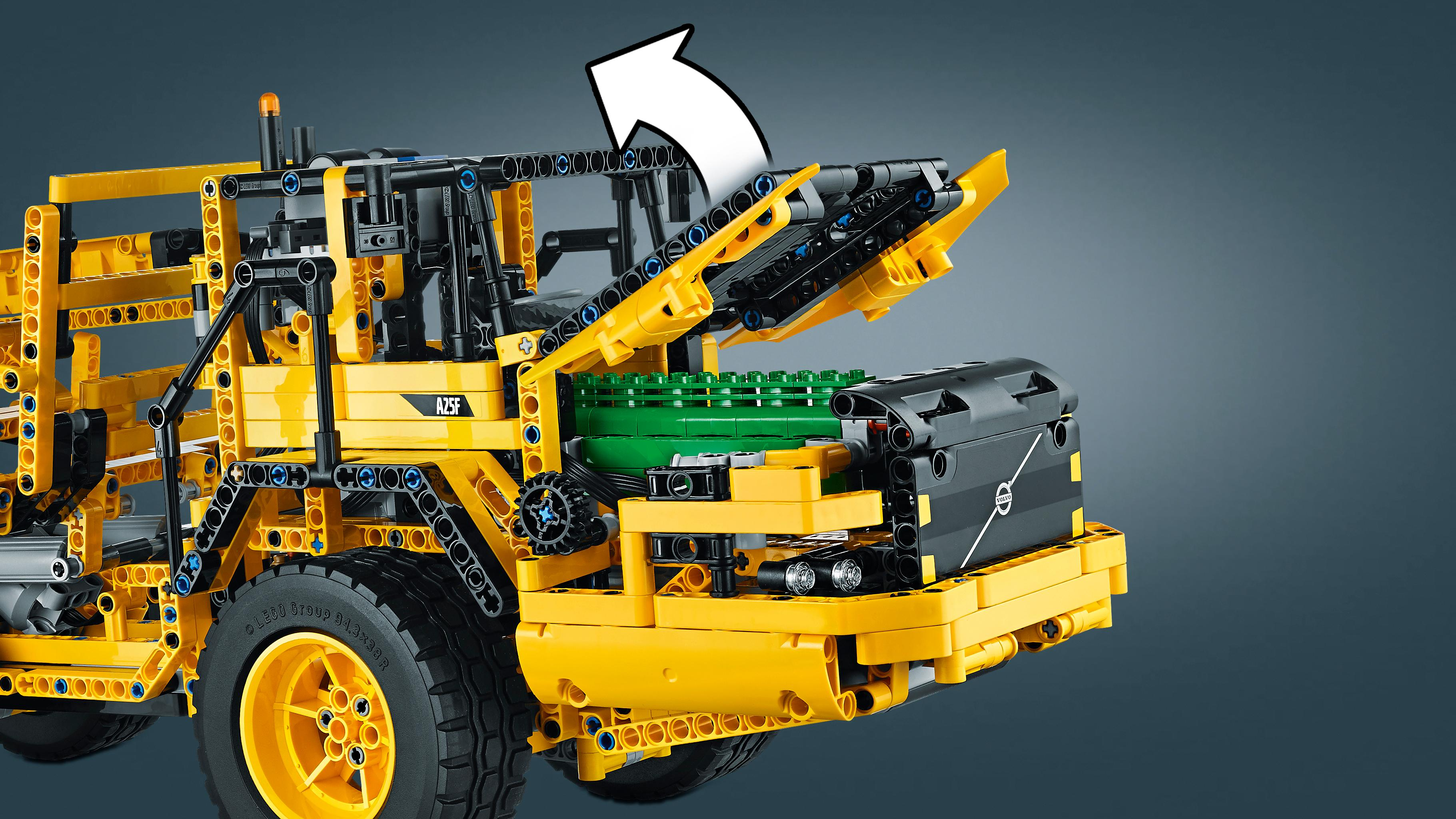 lego technic remote controlled volvo l350f wheel load. Black Bedroom Furniture Sets. Home Design Ideas
