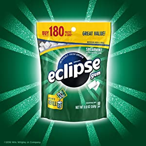 Refill bag of Eclipse sugarfree chewing gum
