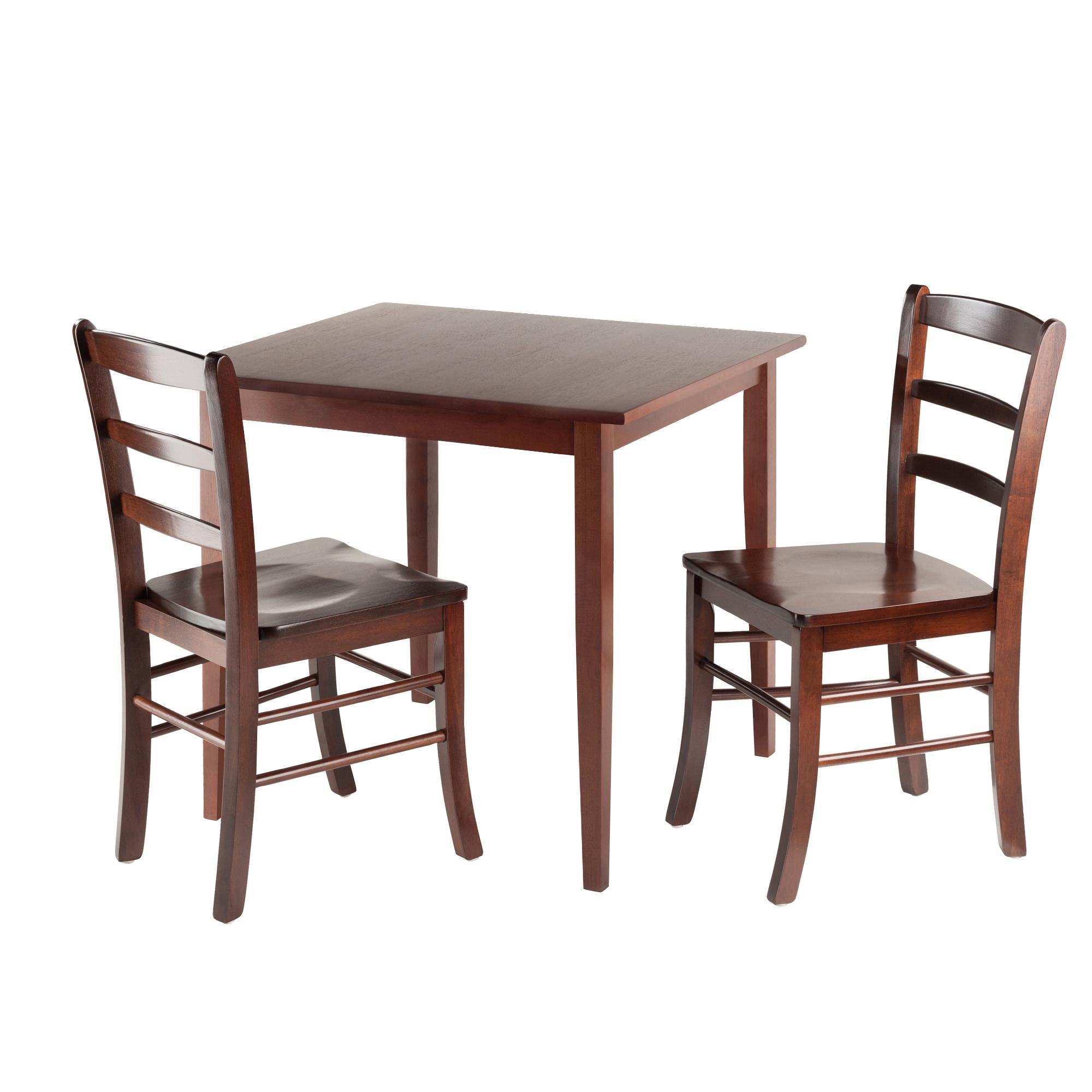 Square Kitchen Table And Chairs: Winsome Wood Groveland Square Dining Table With 2 Chairs