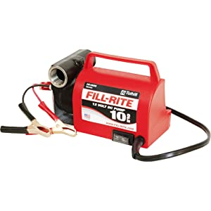Fill-Rite FR1612 Portable Diesel Fuel Transfer Pump-12 V DC 10 GPM No Nozzle 1//5 HP 3//4 NPT Inlet