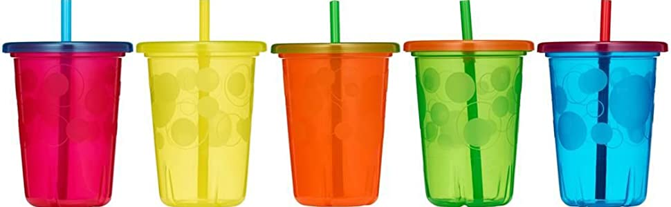 Take & Toss Spill-Proof Straw Cups