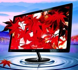 "ASUS VS228H-P 21.5"" FULL HD 1920X1080 HDMI DVI VGA LCD MONITOR WITH BACK-LIT LED, BLACK"