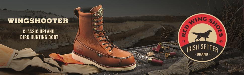 irish setter,hunting boot,hunting boots