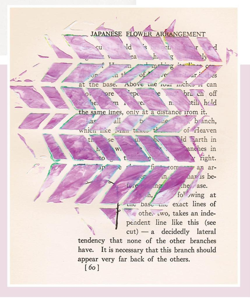 mixed media - stenciled pages