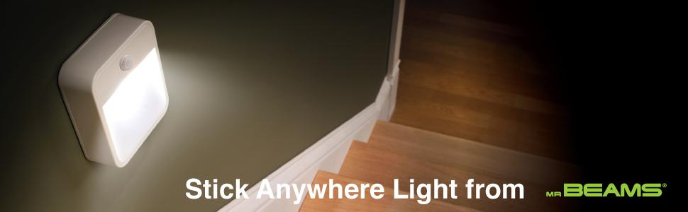 battery night light, stick anywhere lights, motion sensing night light, indoor motion sensor light