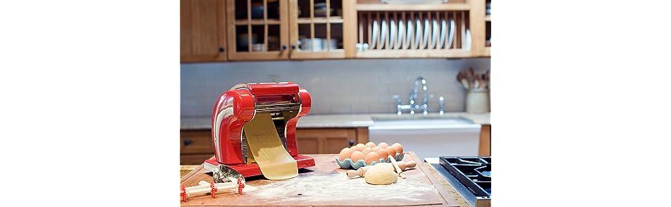 pasta machine roller noodle dough imperia popeil electric marcato press atlas hand kitchenaid