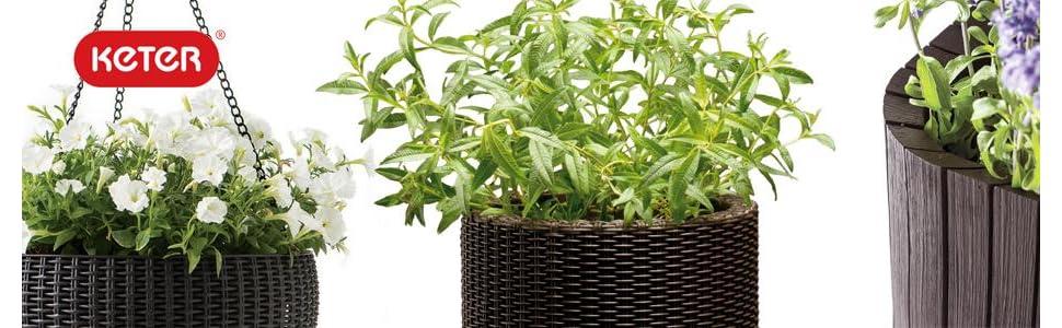 Keter Gardening planters flower pot patio decor indoor outdoor
