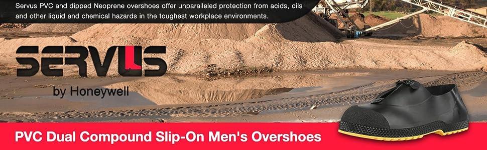 Servus SuperFit 4quot; PVC Dual-Compound Slip-On Men's Overshoes, overshoes