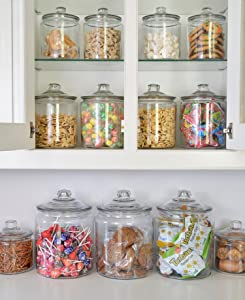 anchor hocking;heritage hill;glass;jar;pantry;storage;durable; thick glass; organization