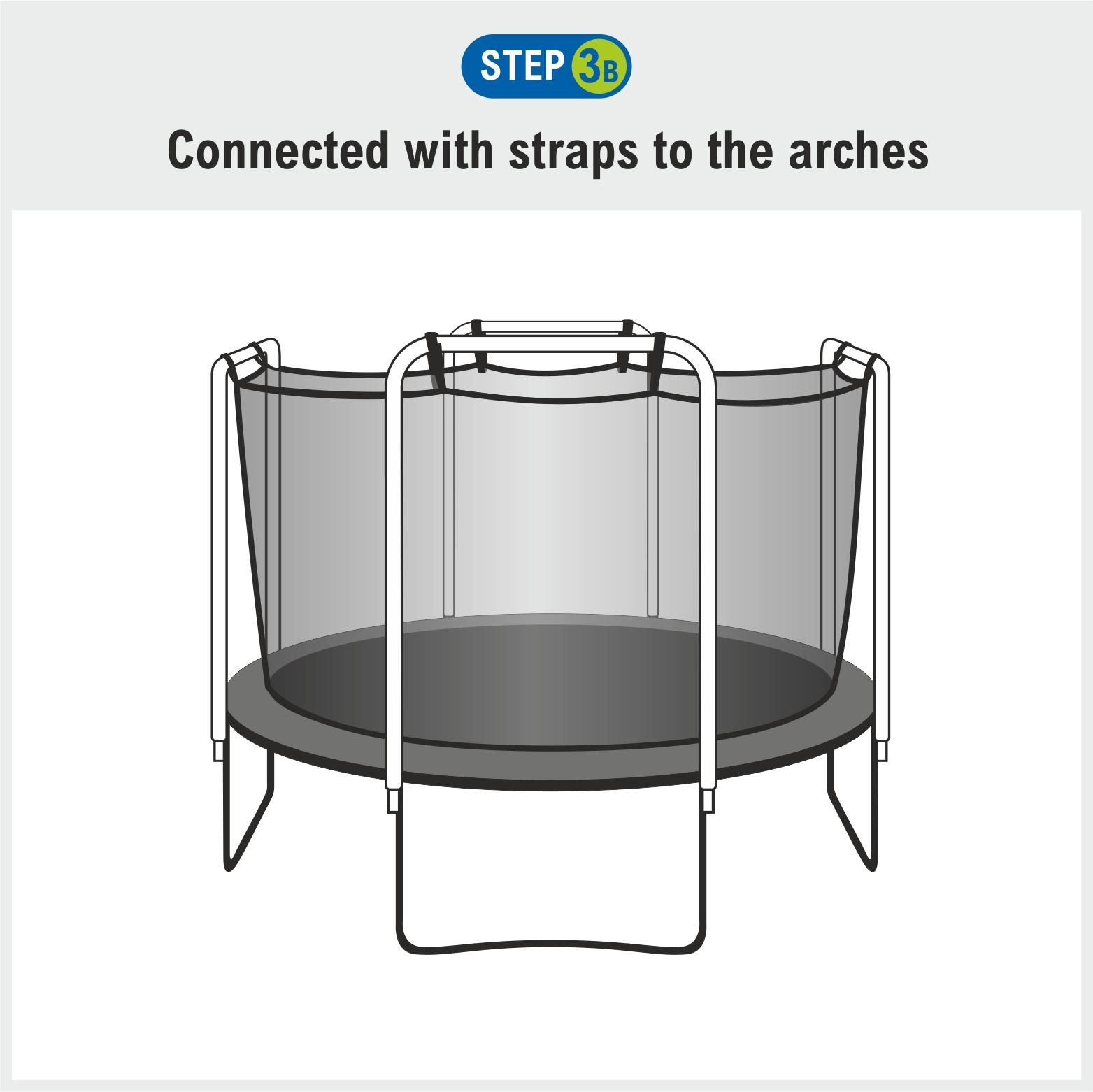 Upper Bounce Trampoline Enclosure Safety Net For Round