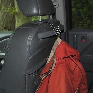 d6516aa83 Amazon.com  Maxsa 20057 Metal Headrest Hanger 2 Hooks for Bags ...