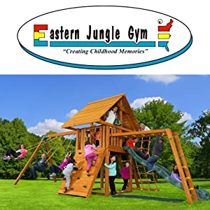Amazon Com Eastern Jungle Gym Easy 1 2 3 A Frame Swing Set Bracket
